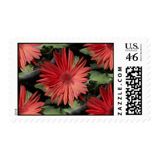 Red Flowers Stamps