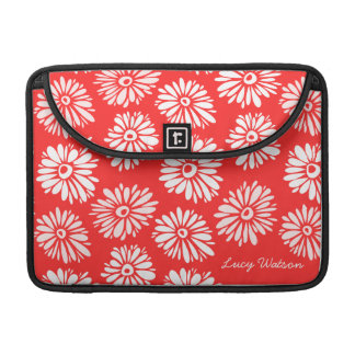 Red Flowers Rickshaw Flap Sleeve MacBook Pro Sleeves