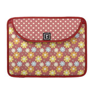 Red Flowers Sleeve for MacBooks