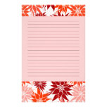 Red Flowers Stationery