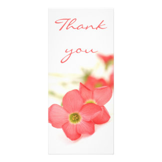 Red flowers  Thank you card Rack Cards