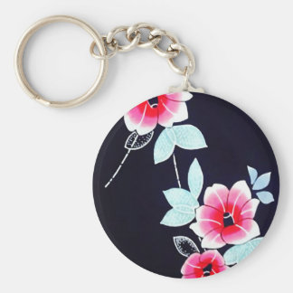 Red Flowers Vintage Japanese Art Keychains