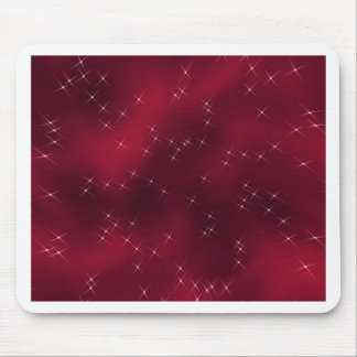 red flowing star nebula mouse pad