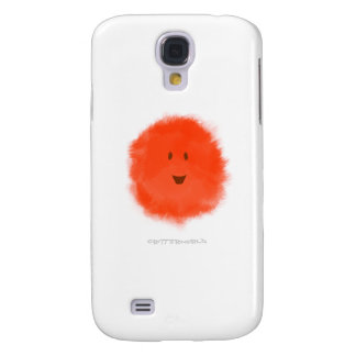 Red Fluffy Critter Galaxy S4 Cover