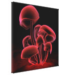 Red Fluorescence Square Canvas Print