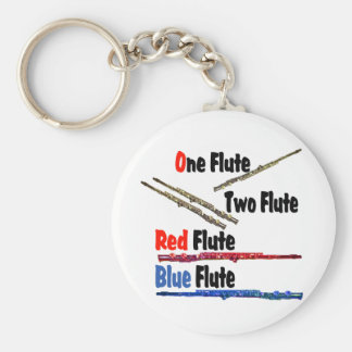 Red Flute Blue Flute Keychain