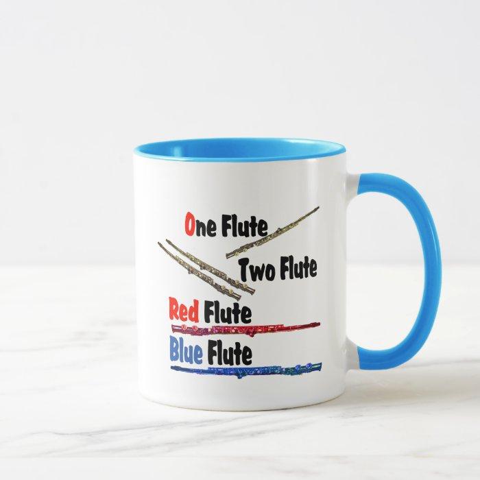 Red Flute Blue Flute Mug