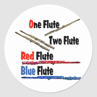 Red Flute Blue Flute Stickers