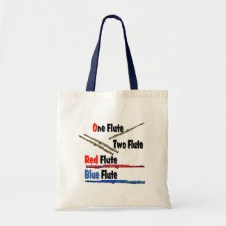 Red Flute Blue Flute Tote Bag