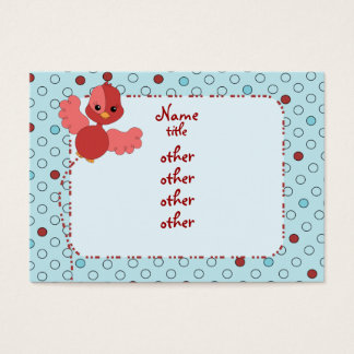 Red Flutter Bird Business Card