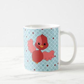 Red Flutter Bird Coffee Mug