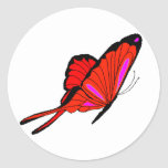 Red Flutters Classic Round Sticker
