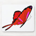 Red Flutters Mouse Pad