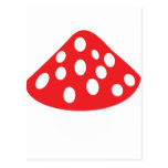 red fly agaric icon post card