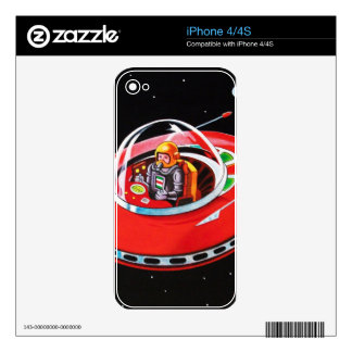 RED FLYING SAUCER SKINS FOR iPhone 4S
