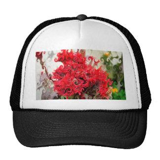 Red Foam Design Trucker Hats