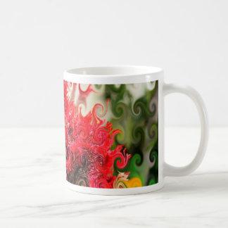 Red Foam Design Classic White Coffee Mug