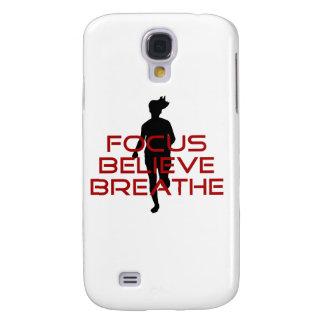 Red Focus Believe Breathe Samsung Galaxy S4 Case