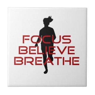 Red Focus Believe Breathe Tiles