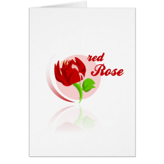 Red foes flower card
