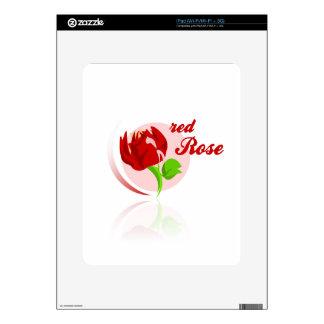 Red foes flower iPad skins