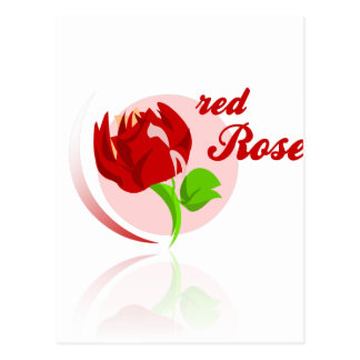 Red foes flower postcard