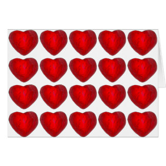 Red Foil Chocolate Hearts Valentine's Day Cards