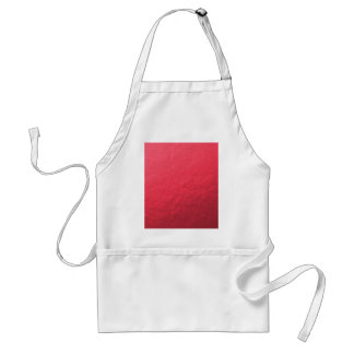 Red Foil Printed Adult Apron