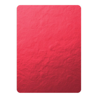 Red Foil Printed 5.5x7.5 Paper Invitation Card