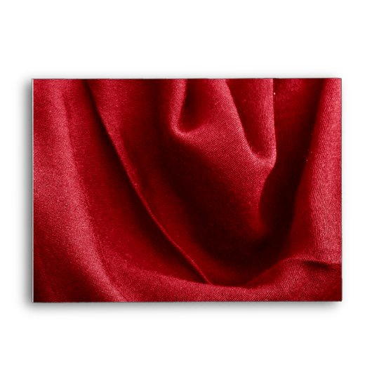 Red folded fabric envelope