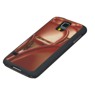 Red folding chairs carved maple galaxy s5 slim case