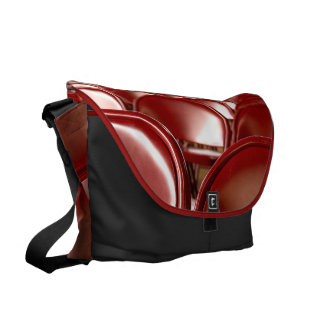 Red folding chairs messenger bag
