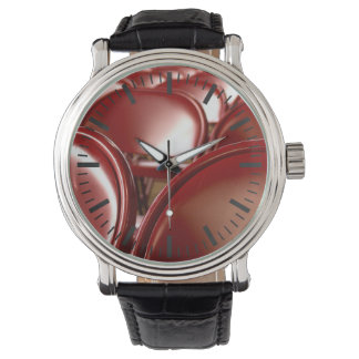 Red folding chairs wrist watch