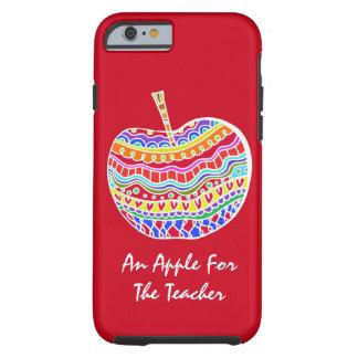 Red Folk Art Apple Teacher's iPhone 6 case