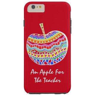 Red Folk Art Apple Teacher's iPhone 6 Plus case