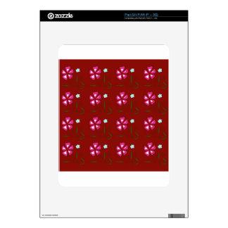 Red Folk wonderful Ornaments Decal For iPad