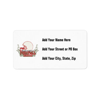 Red Football Hardcore T-shirts and Gifts Personalized Address Labels