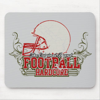 Red Football Hardcore Tshirts and Gifts Mouse Pad
