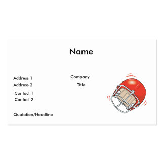red football helmet business card templates
