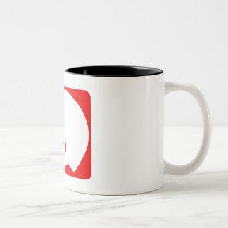 Red Football Helmet Logo Two-Tone Coffee Mug