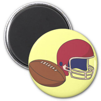 Red Football Helmet n Ball Magnet