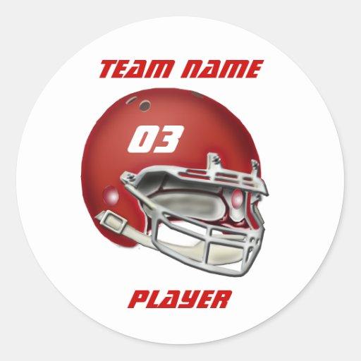 Red Football Helmet Sticker