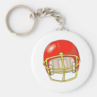 Red football logo helmet keychain