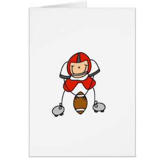 Red Football Player Card