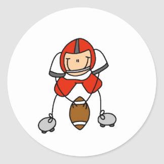 Red Football Player Sticker