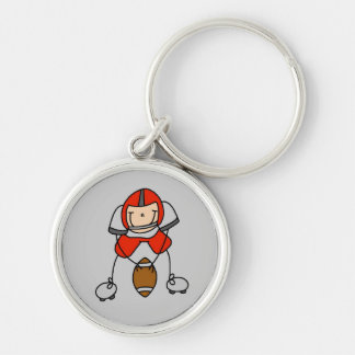 Red Football Player Tshirts and Gifts Key Chain