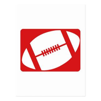 Red Football Postcard
