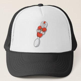 red football spoon trucker hat