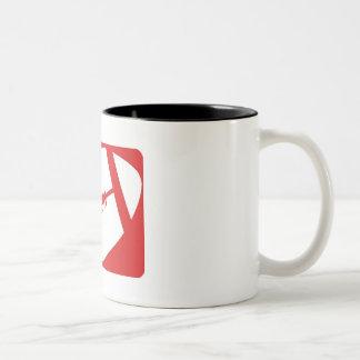 Red Football Two-Tone Coffee Mug