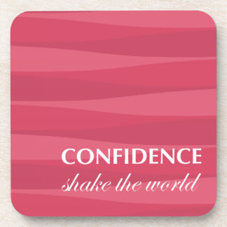 Red for Confidence Beverage Coasters